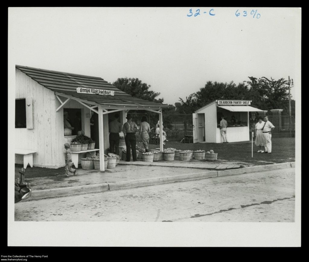 The Students Of The Greenfield Village Schools Tended Their Own Gardens And Operated This Roadside Market Located At The Corn Roadside Small Buildings Village