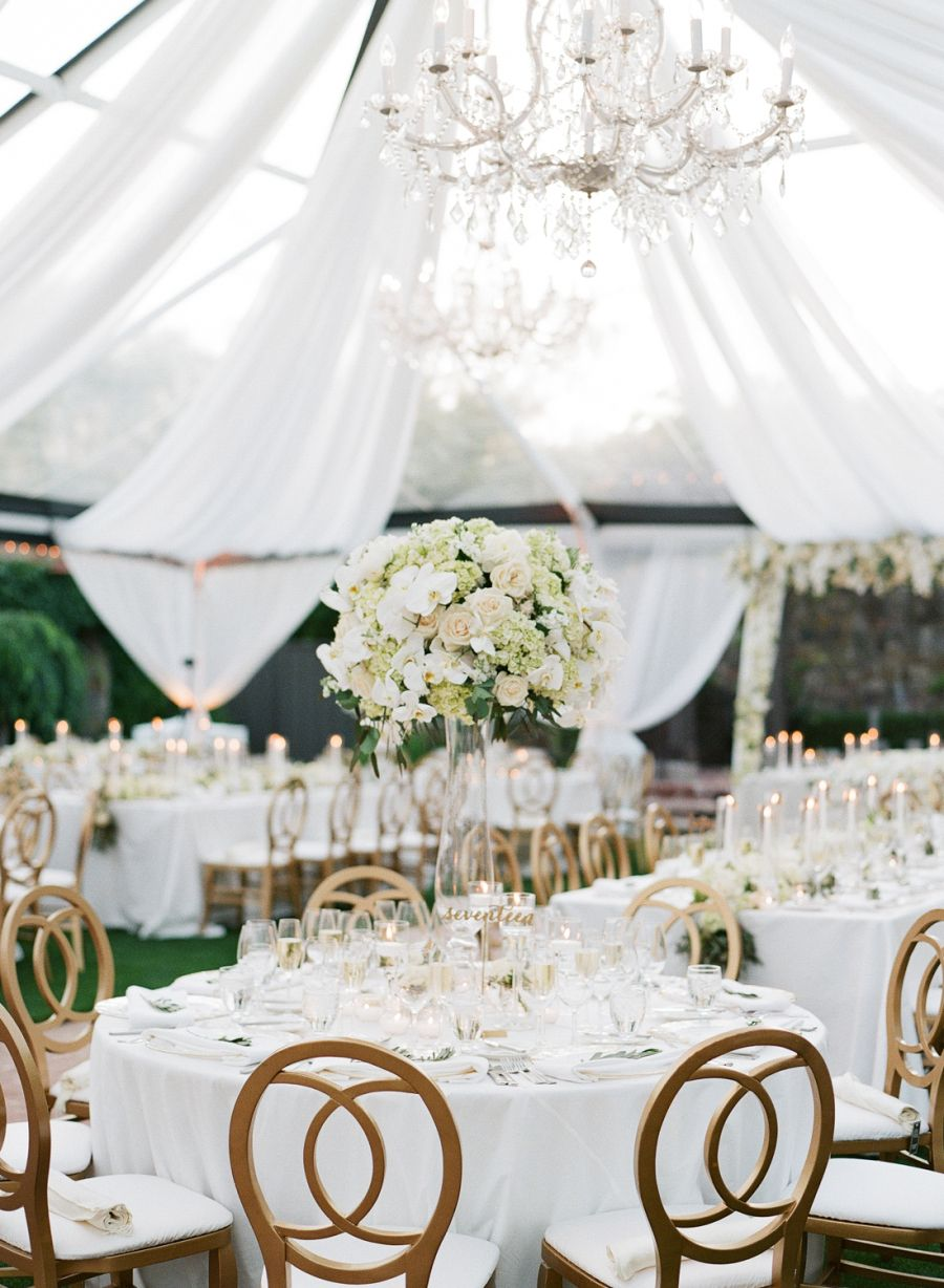 AllWhite Vineyard Wedding With a Touch of Glam Vineyard