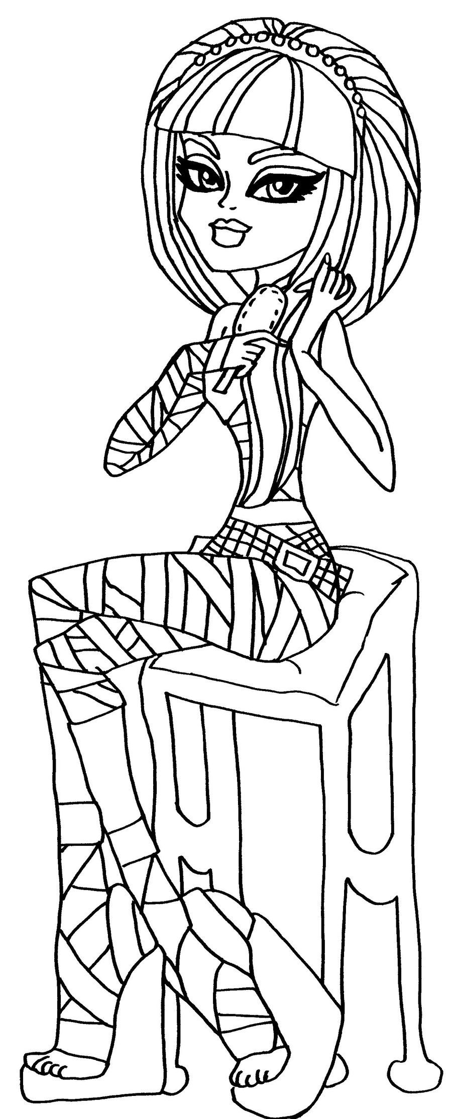Cleo De Nile Monster High Coloring Page | Coloring Pages of Epicness ...