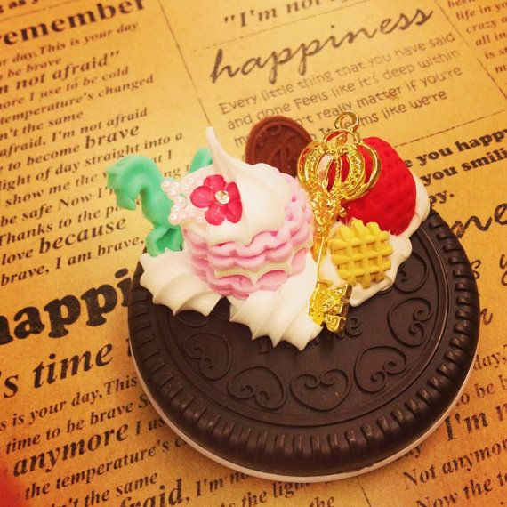 Sweet deco Mirror cookie Polymer clay  MR008 by SweetieTiny, $7.99