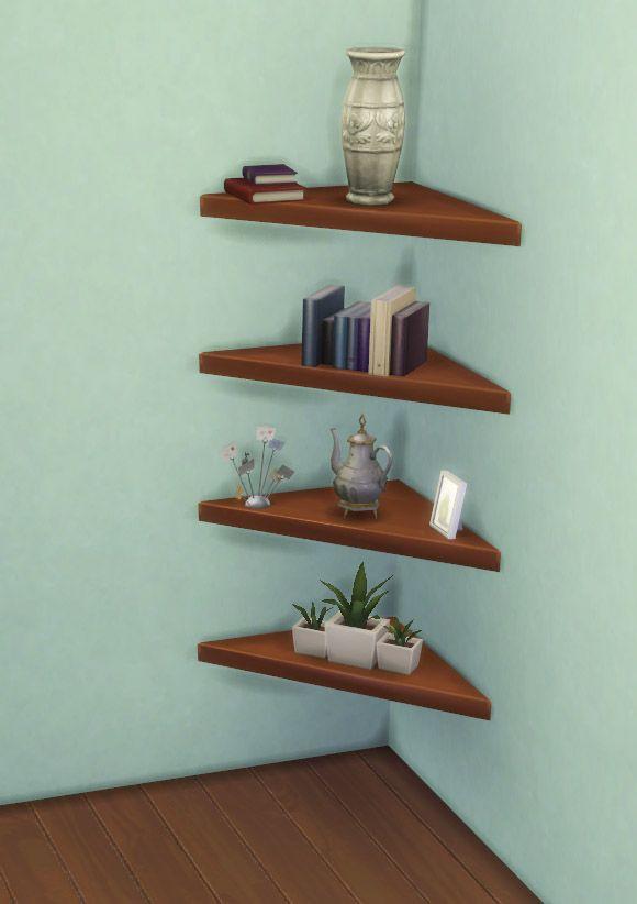 The Mega Minimal Corner Shelf By Ignorantbliss At Mod The Sims