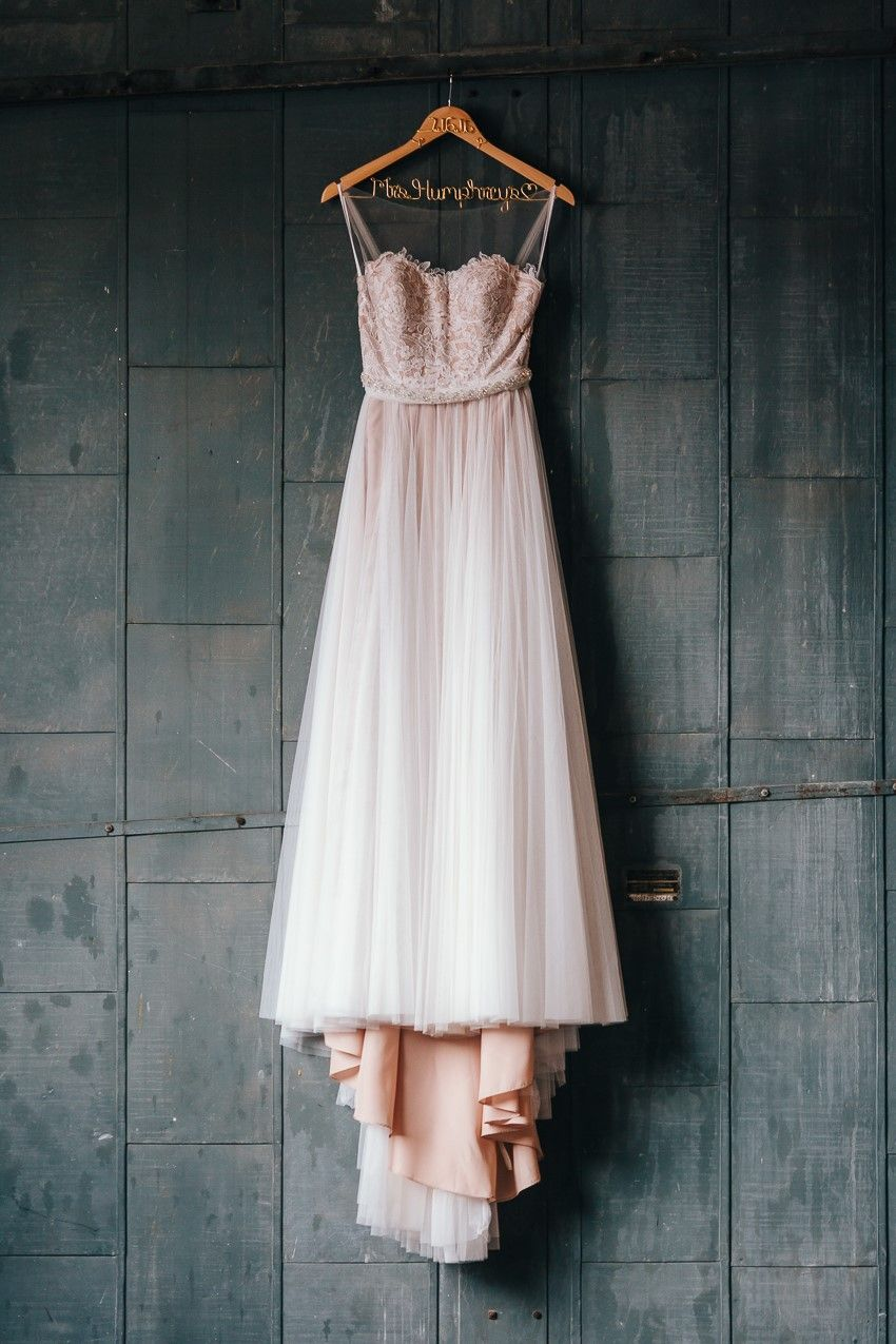 A romantic industrialvintage wedding blush wedding dresses blush