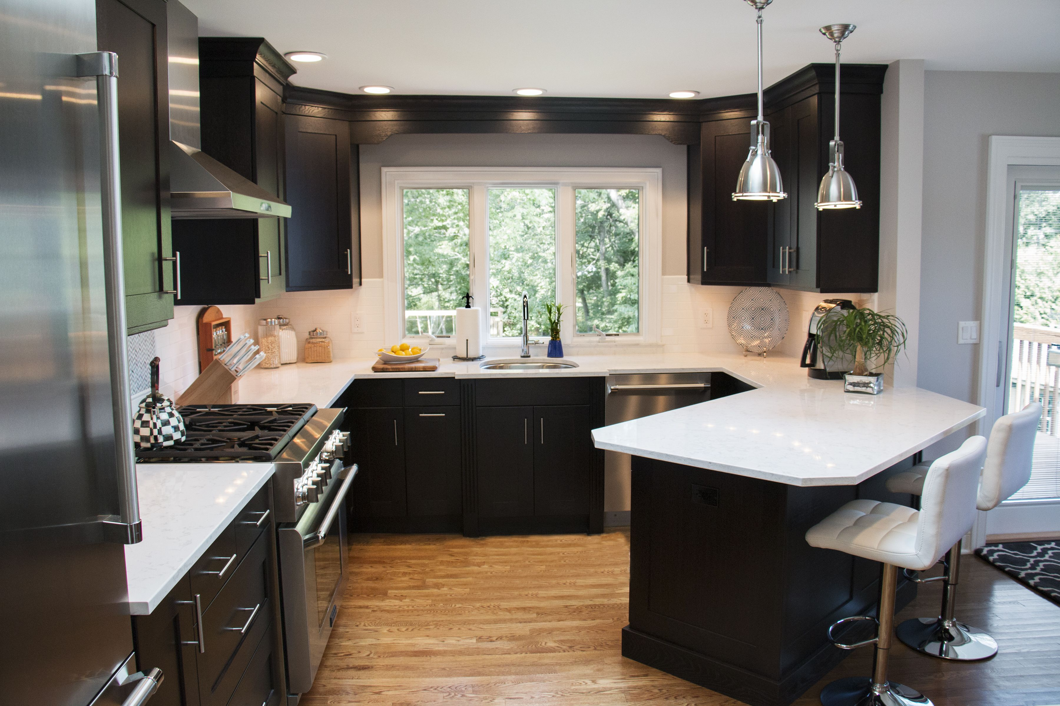 A kitchen remodel in Commack, New York was designed with ...