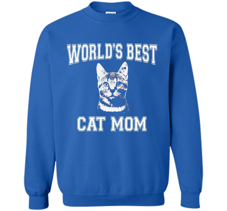 World's Best Cat Mom T-shirt - Cat Shirt for Women