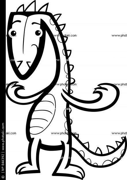 dibujos animados lagarto o para colorear de dinosaurios | disenos ...