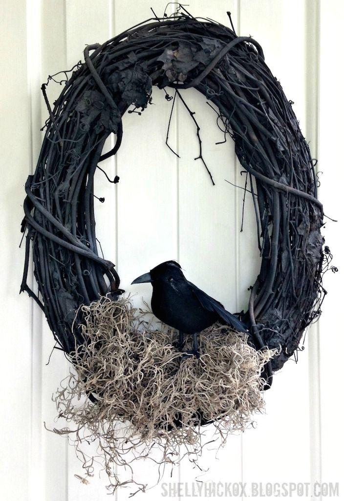 Williams-Sonoma Knock-Off Halloween Wreath #halloweenwreaths
