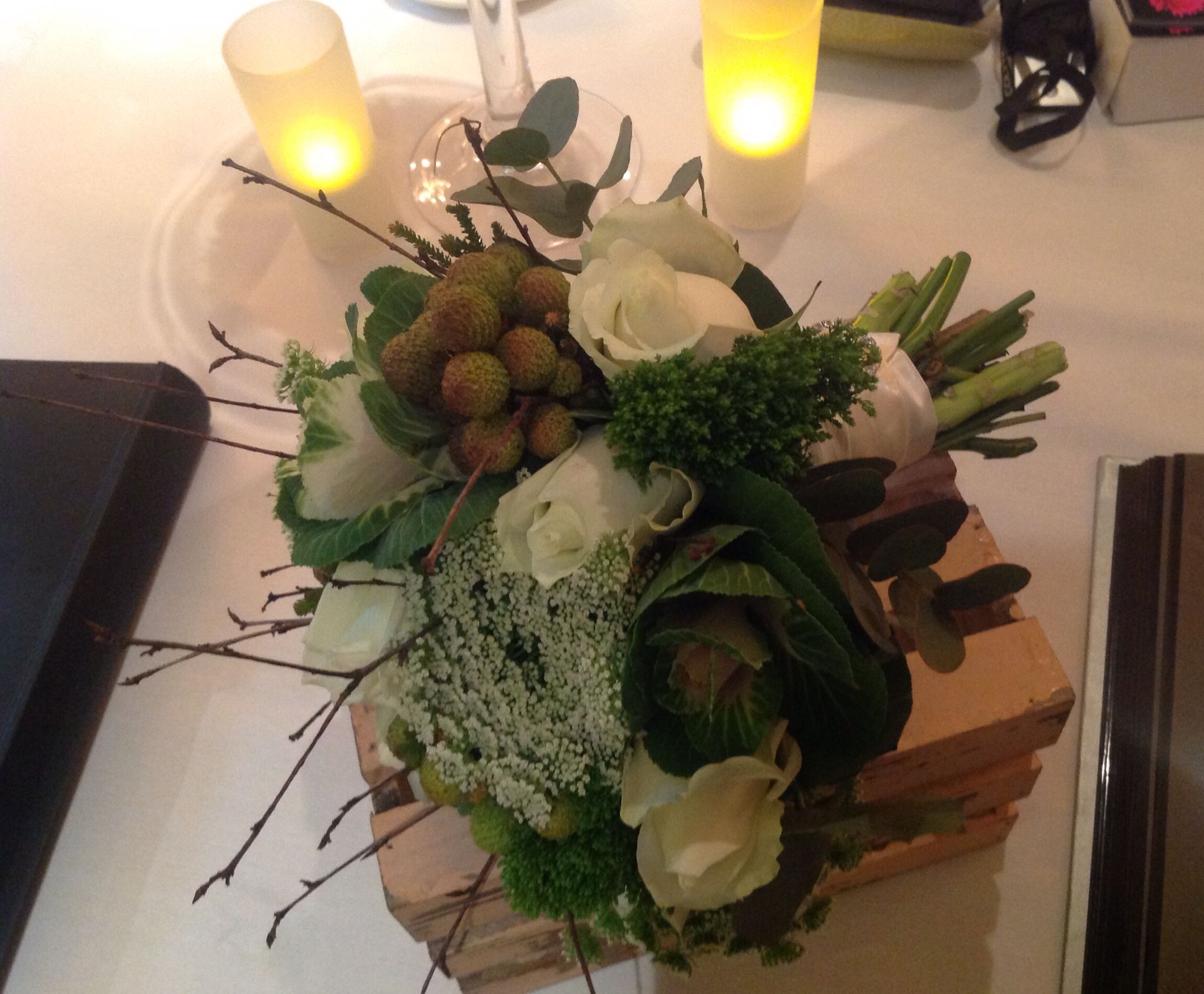 Winter hand tied bouquet with a few twigs my flowers pinterest