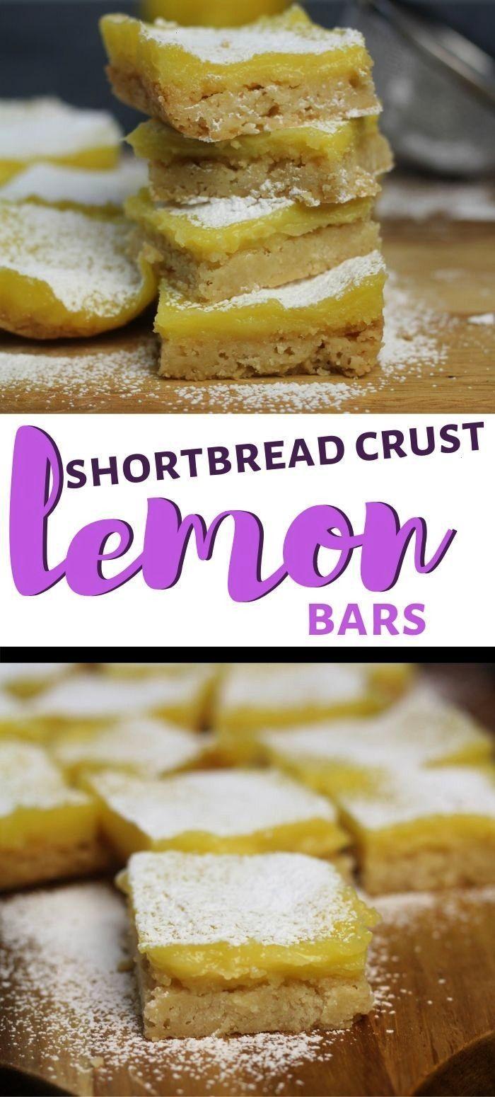 Lemon Bars with Brown Sugar Shortbread Crust These EASY lemon bars are made with a shortbread crust