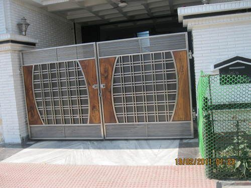 Satguru Stainless Steel Corporation   Manufacturer of Designer Main Gate in  Basti Abdulapur  Ludhiana  Punjab  India  Get deals on Designer Main Gate  at. Designer Main Gate   doors   Pinterest   Gate  Designers and Gates