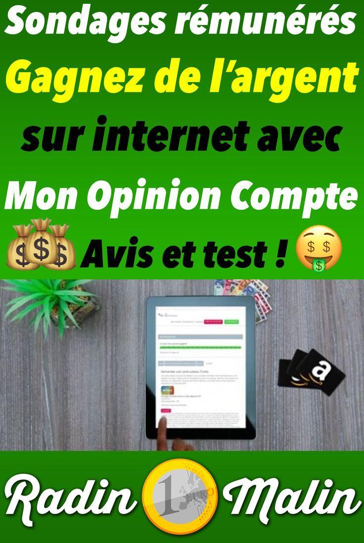 Mon avis sur Mon Opinion Compte (site de sondage rémunéré