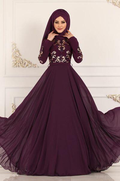 Modaselvim Abiye Kemerli Pul Payet Abiye 8908w153 Murdum Ziyafet Elbiseler Elbise Elbiseler