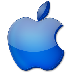 Blue Apple Iphone Logo Creative Apps Apple Logo