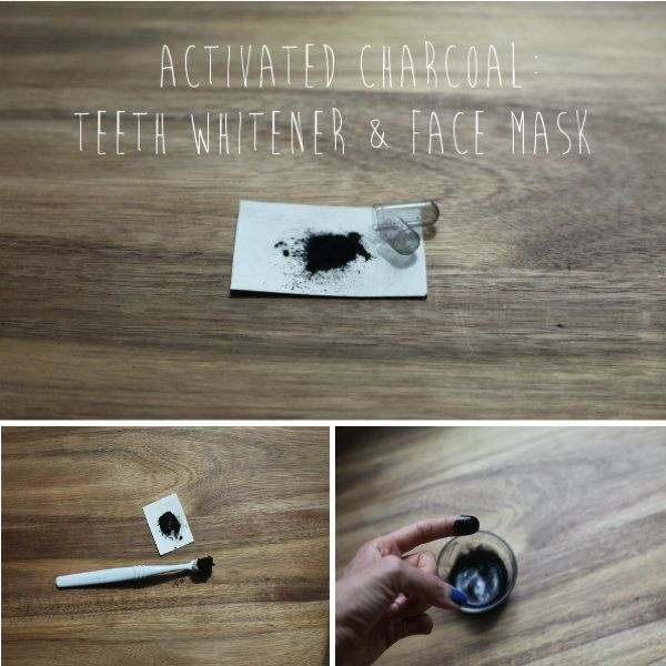 Diy Skincare Activated Charcoal Mask: Beauty DIY: Activated Charcoal Teeth Whitener & Face Mask