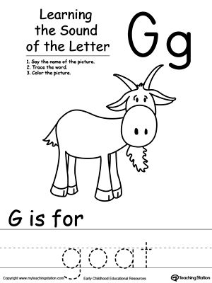 learning beginning letter sound g phonics worksheets pinterest letter sounds letter g. Black Bedroom Furniture Sets. Home Design Ideas