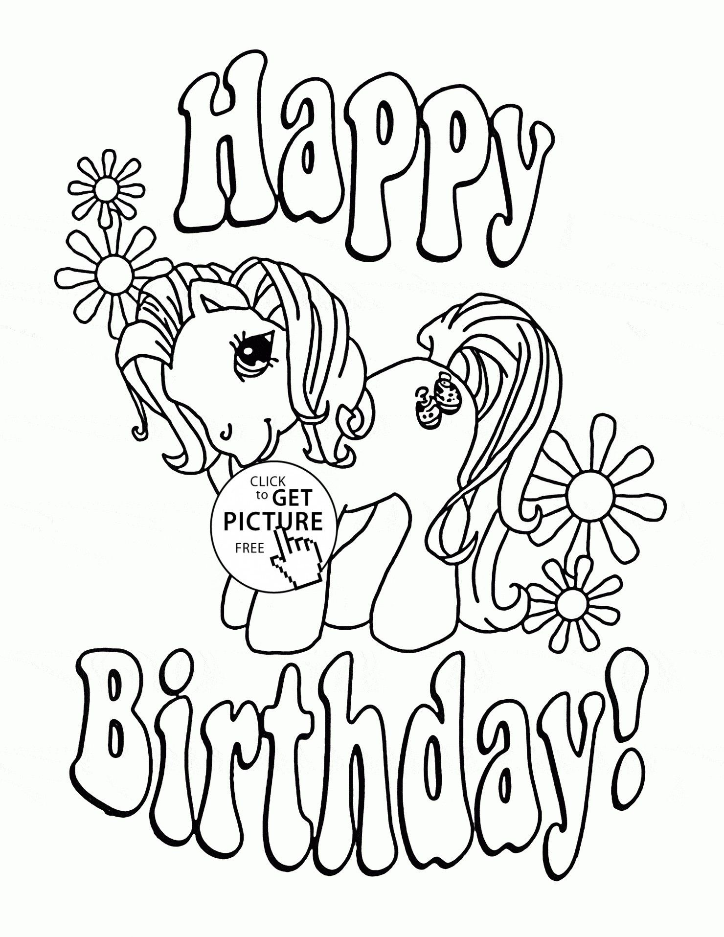 Printable Unicorn Coloring Pages Ideas For Kids Happy Birthday