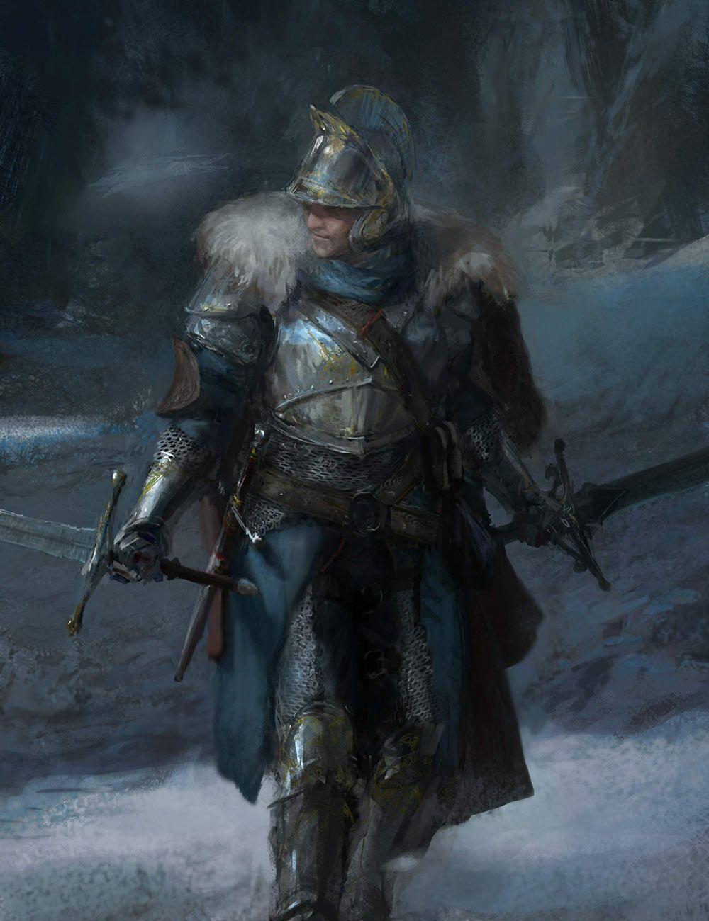 Dark Souls Character Design Process : Fur adorned armor from dark souls ii d character design