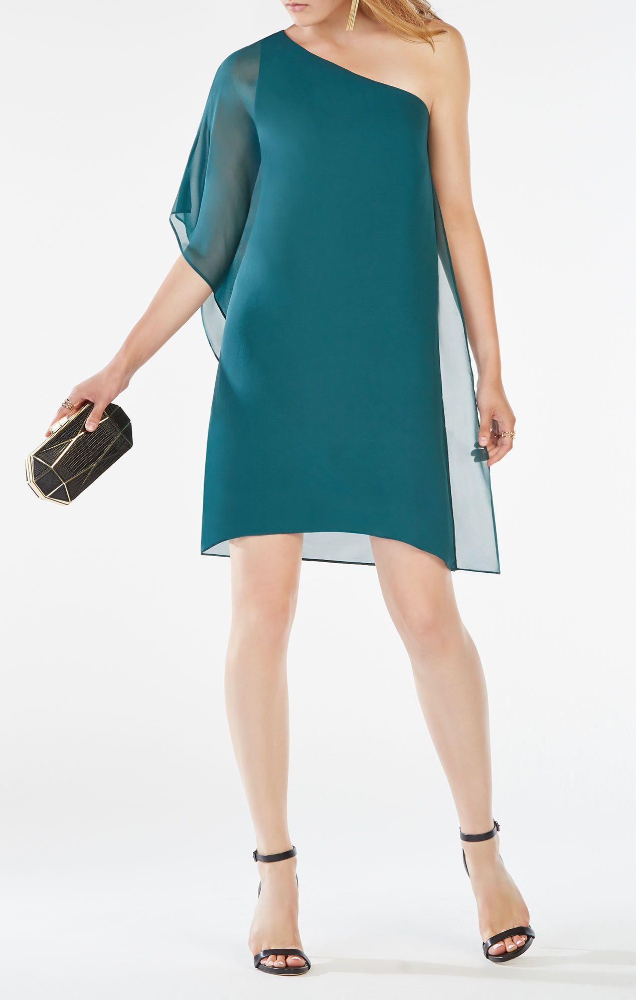 One Sleeve Silk Dress