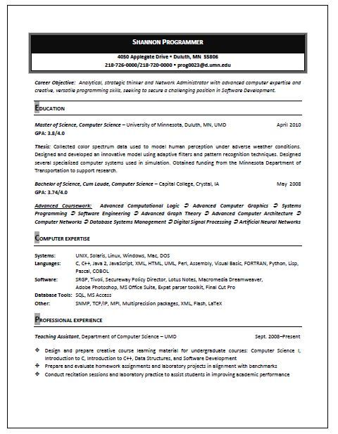 Resume and CV Samples Resume Writing Service lollo Pinterest - computer software engineer sample resume