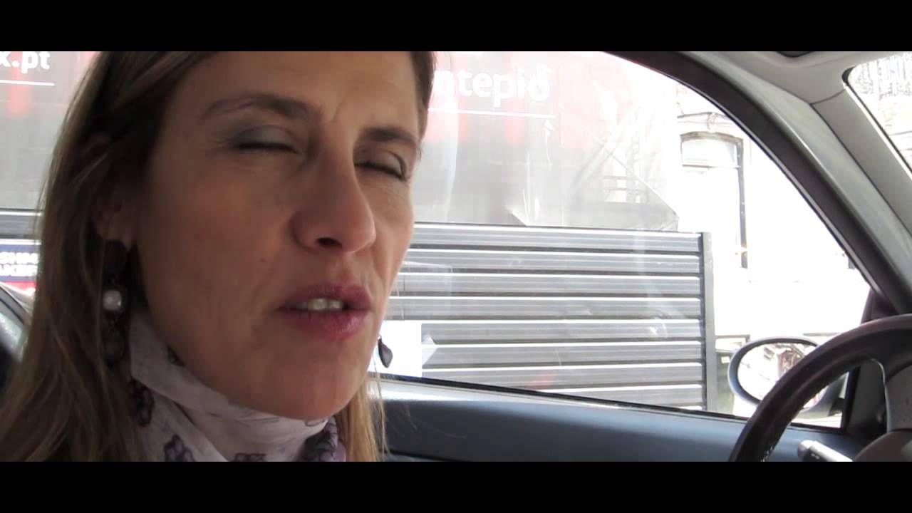Helena Soares dá um briefing do empreendimento Ópera, na Avenida da Liberdade.