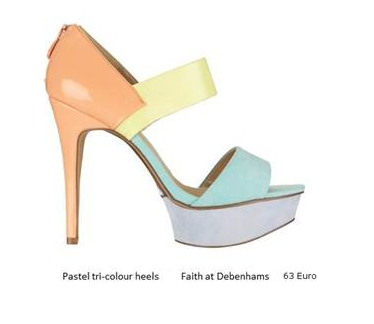 Like these colour block shoes from Debenhams