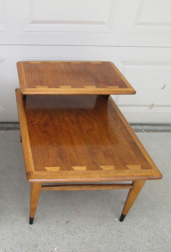 Vintage Mid Century Danish Modern Lane Acclaim Two Tier End Table Mid Mod Furniture Mid Century Side Table Mid Century Danish