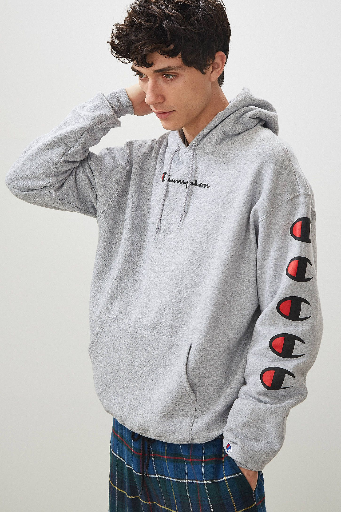 Shop Champion Repeat Eco Hoodie Sweatshirt at Urban Outfitters today. We  carry all the latest styles 70280b870366