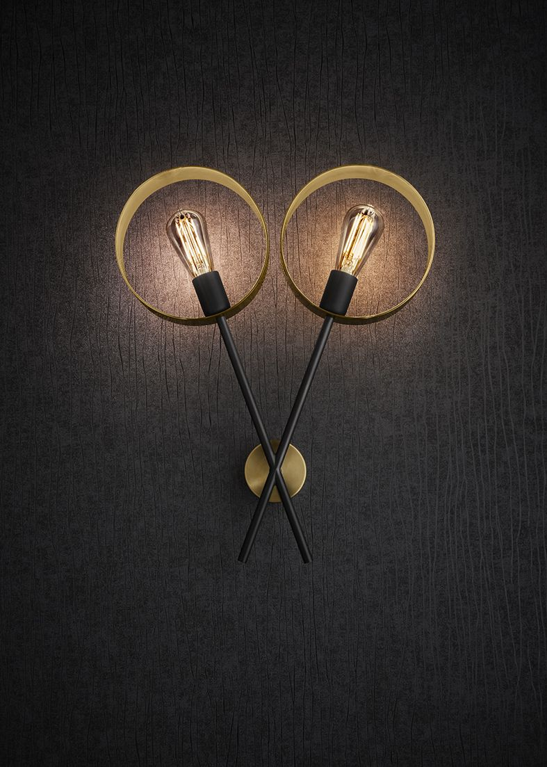 Introducing The Halo Wall Light From Chelsom Decorative Led Filament Lamps Reflect A Warm Glow Off Interiors Of Brushed Br Rings