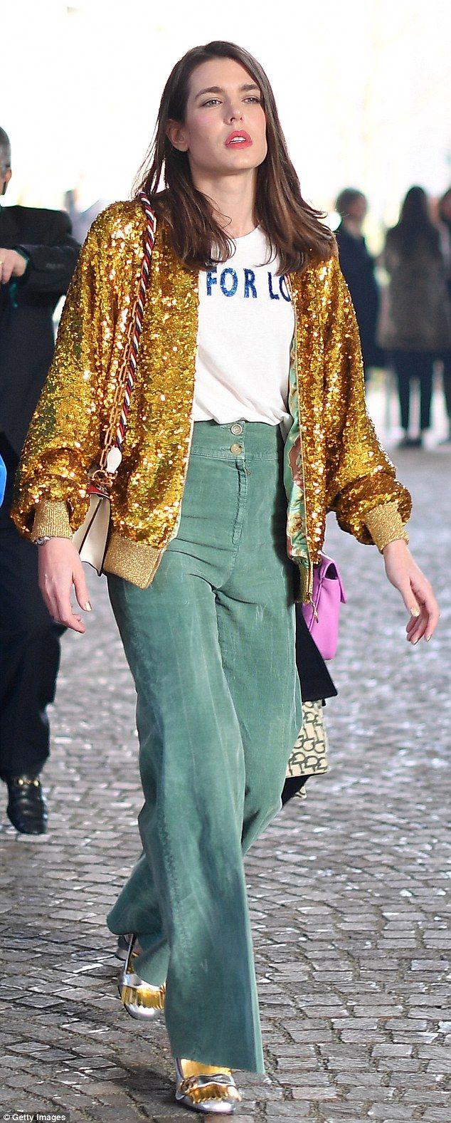 Charlotte Casiraghi is still a Gucci girl at Milan Fashion Week ...