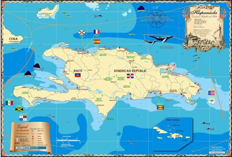 Hispaniola Island Map Islands Miles Of Isles In 2019 Pinterest
