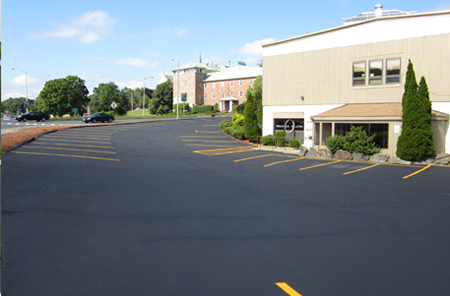 This line striping looks terrific! Over at my work company it has been so hard for my co-workers and I to park because the lines have faded over the years. We are hoping to hire a company to come in and redo them soon at an affordable cost.