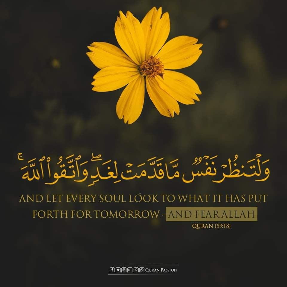لنرتقي ونعمل سويا لغد و ل ت نظ ر ن ف س م ا ق د م ت ل غ د ١٨ سورة الحشر Quran Quotes Islamic Quotes Quran Quran Verses