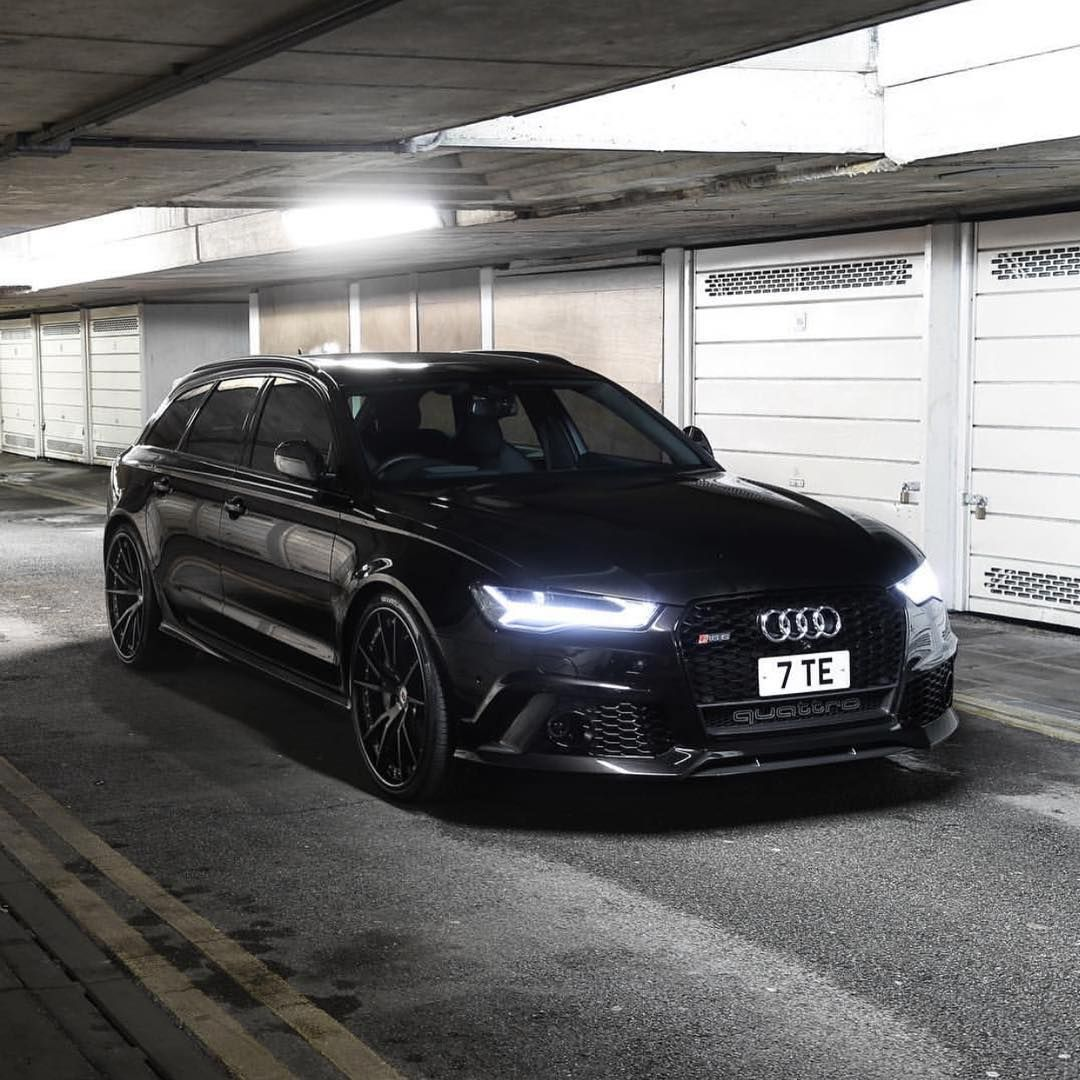 All black Audi RS6 • Follow our partners @a1exoticsmag • • Use code