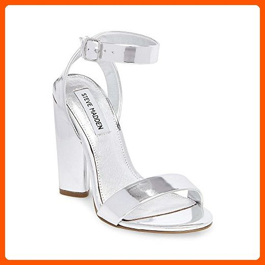 Steve Madden Women's Treasure Dress Sandal, Silver, 8 M US - All about women (*Amazon Partner-Link)
