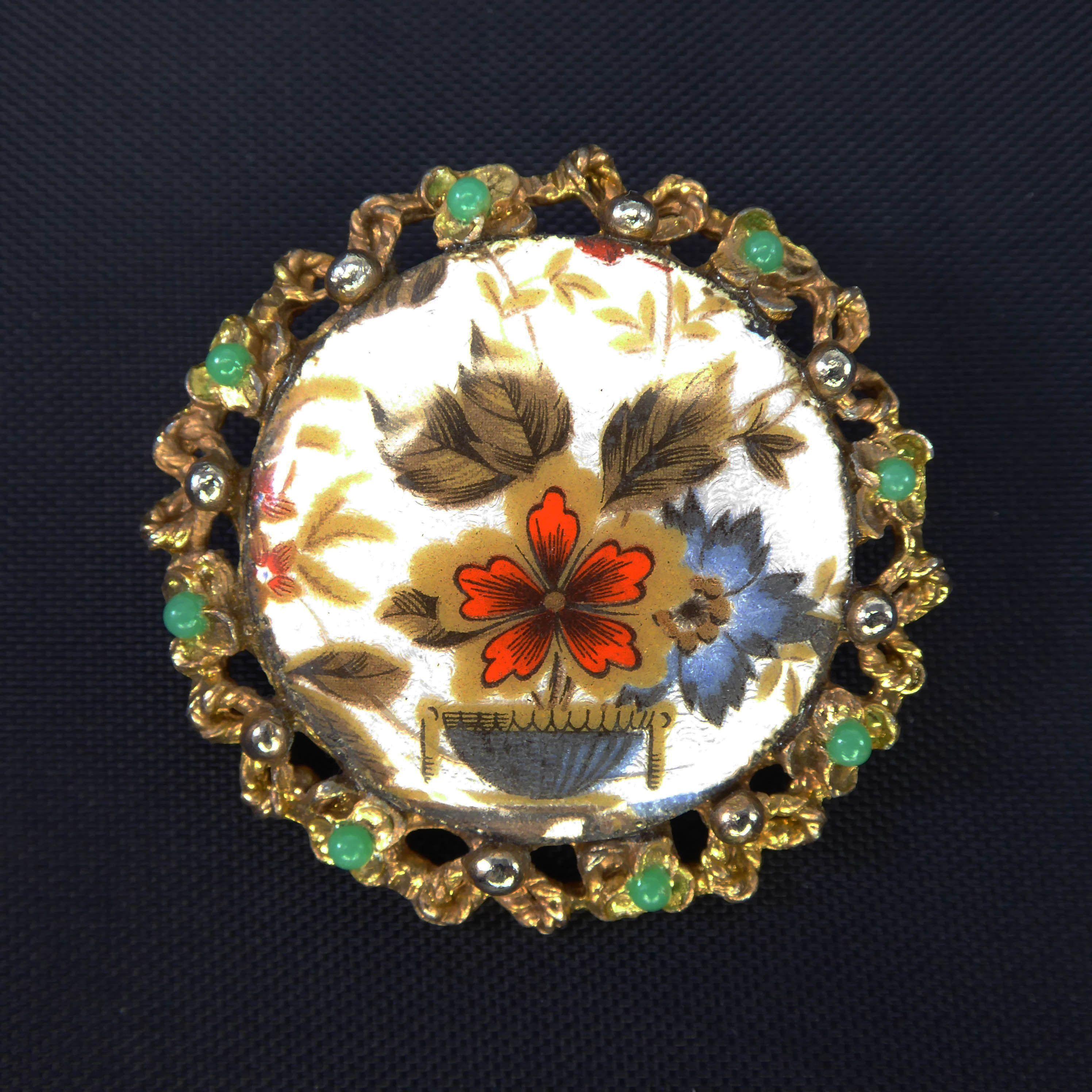 Vintage Tassel Brooch Vintage Wedding Brooch Vintage Guilloche Brooch Vintage Gold Plated Guilloche Tassel Brooch Vintage Wedding Pin