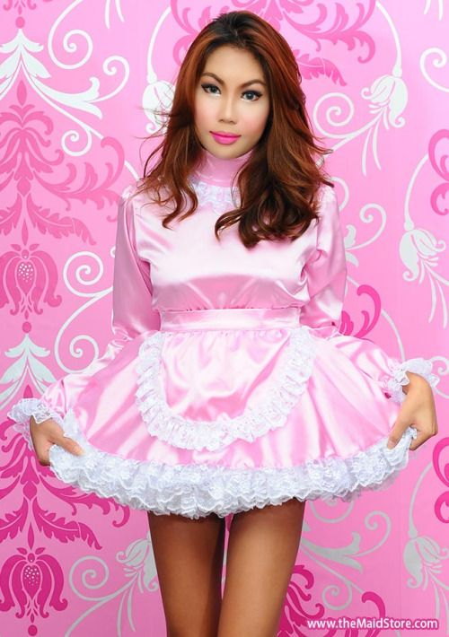 Pin by BirchPlace on Sexy Girls | Pinterest | Sissy maid ... Ruffled Satin Housemaid
