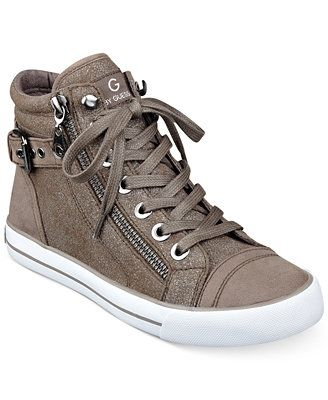 14482a48bb8 G by GUESS Women s Olama High Top Sneakers