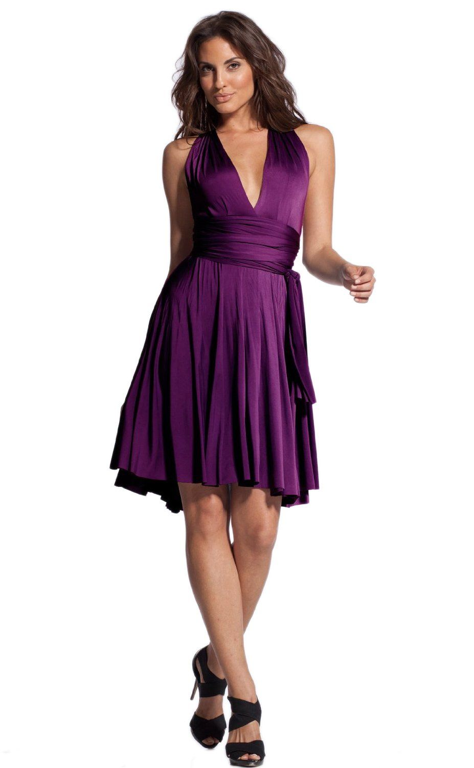 Maybe for Jana? - Vivian's Fashions Dress - Twist Wrap, 8 Ways to Wear, Regular and Plus Size at Amazon Women's Clothing store: