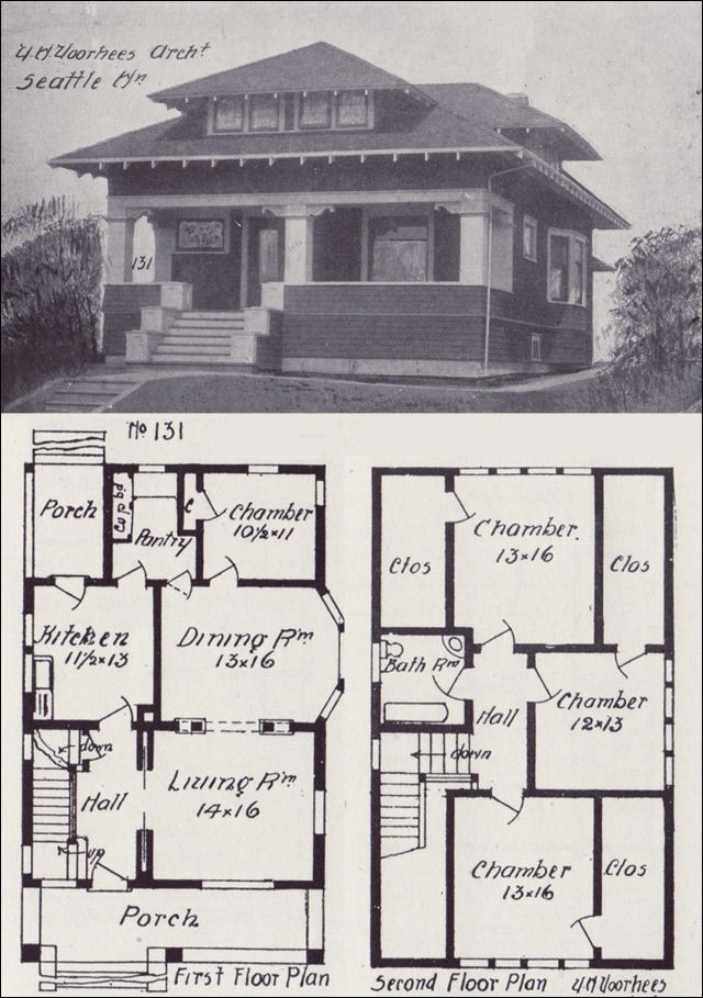 Phenomenal 1908 Western Home Builder No 131 Vintage House Plans Download Free Architecture Designs Grimeyleaguecom