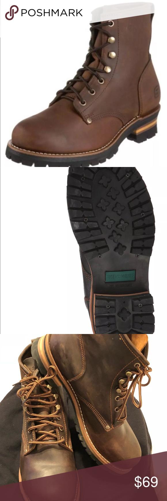 skechers oil resistant boots