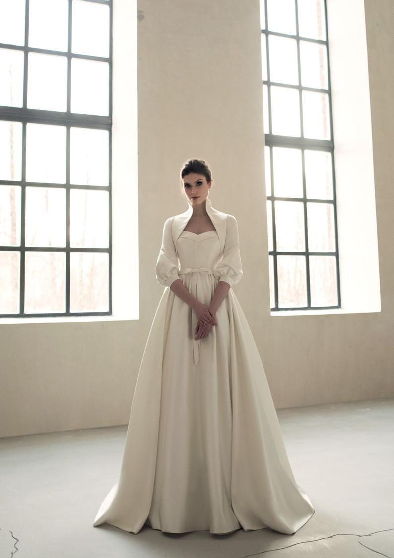 Ivory Satin Elegant Classic Wedding Dress Formal Simple Boho Etsy In 2021 Classic Wedding Dress Formal Dresses For Weddings Wedding Dresses [ 1123 x 794 Pixel ]