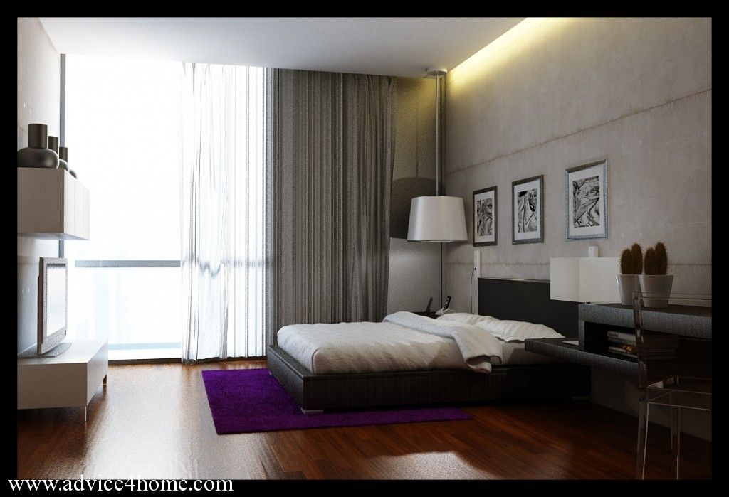Purple Rug Bedroom Design