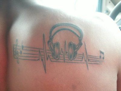 Music tattoo - i really like it but its not me