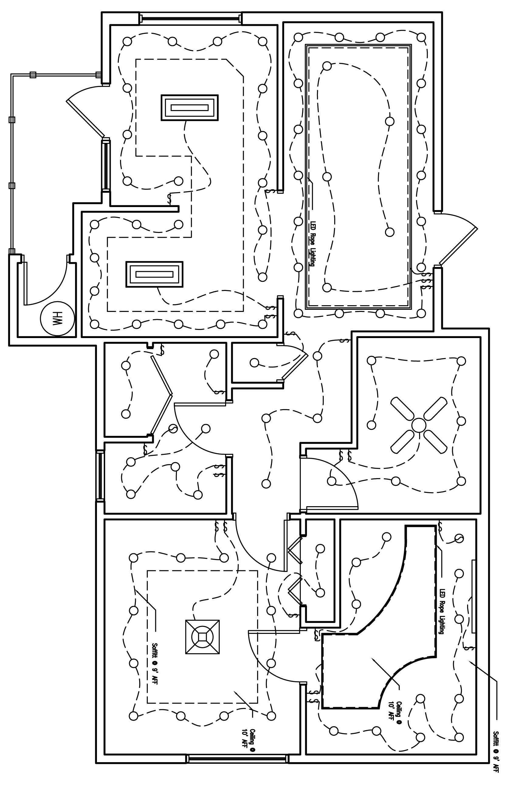 the reflected lighting ceiling plan of the zen home home electrical wiring  [ 1688 x 2592 Pixel ]