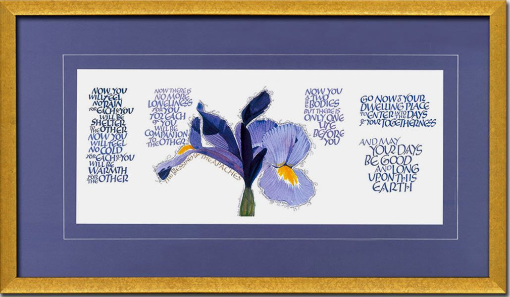 Apache Blessing Framed Calligraphy Giclee Print A Very Beautiful Message For The Newly Weds To