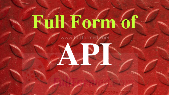 The API Full Form is the application program interface. A