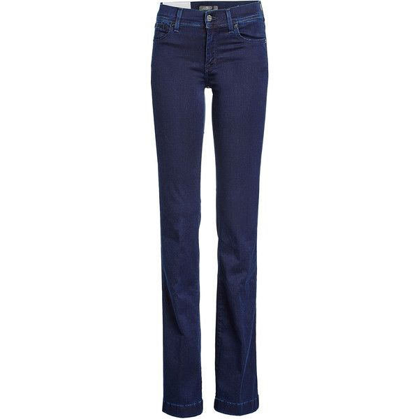 Seven for all Mankind High-Waisted Jeans (2.645.505 IDR) ❤ liked on Polyvore featuring jeans, blue, high waisted jeans, 7 for all mankind, dark-wash jeans, high rise denim jeans and blue jeans