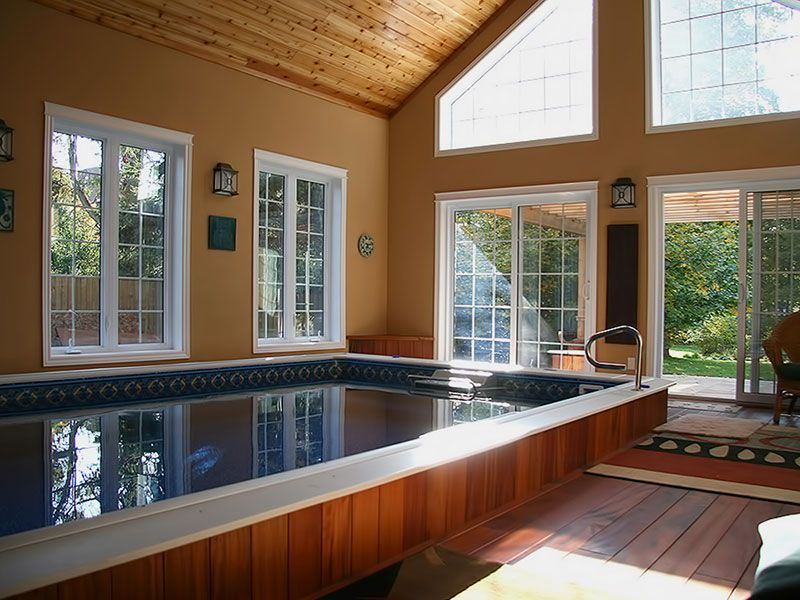 An indoor swim spa can be used year-round │Endless Pools http://www ...