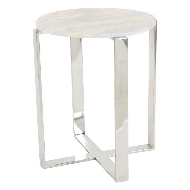 Benzara Simplistic Marble End Table Bm119581 Marble