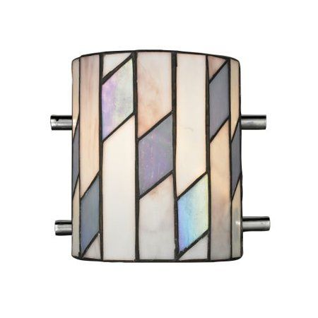 Glacier Metal Wall Sconce in Polished Chrome Finish, Silver