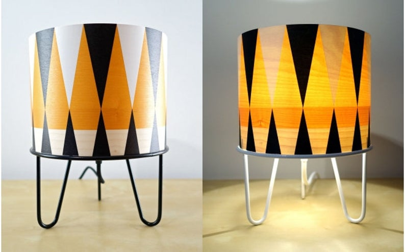 Wood And Metal Table Lamp For Kids Room Cute Orange White And Black Lamp For Kids Bedroom In 2020 Wood And Metal Table Metal Table Lamps Kids Table Lamp #orange #table #lamps #for #living #room